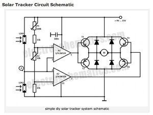 Solar Tracker circuit schematic