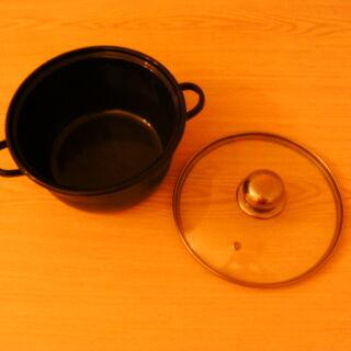 6) Pot et son couvercle transparent