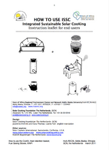 Integrated Sustainable Solar Cooking - Instruction leaflet for end users