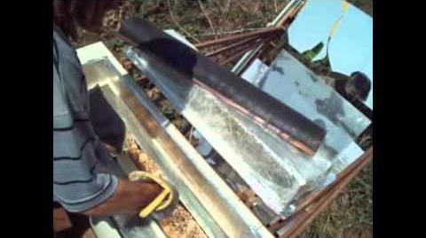 Pão assado no forno solar P.S.II.2 2