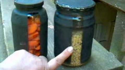 Solar cooking food in jars to put in solar ovens