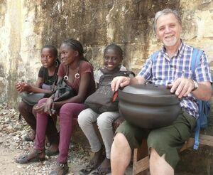 Cucinare con il Sole, Ottorino Saccon with children, 1-21-14