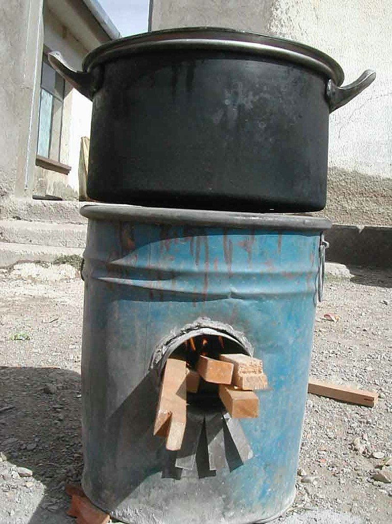 Rocket Stove Solar Cooking Fandom Powered By Wikia Diagram A Made From Barrel In Bolivia