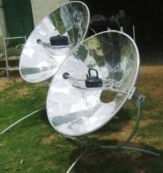 Olympus Flower parabolic solar cooker
