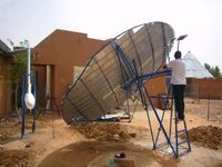 10 m² Scheffler Reflector for pasteurisation at solar off grid dairy