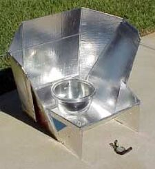 High-Back Solar Cooker