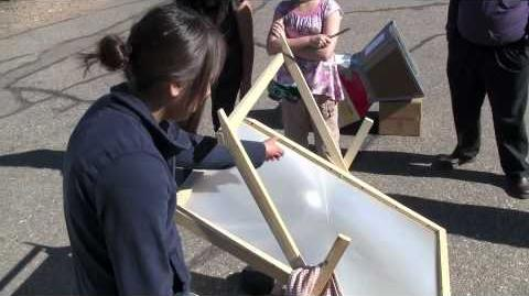 Navajo Students Native Sun Fresnel Solar Cooker.mov