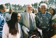 Mandela with chicken