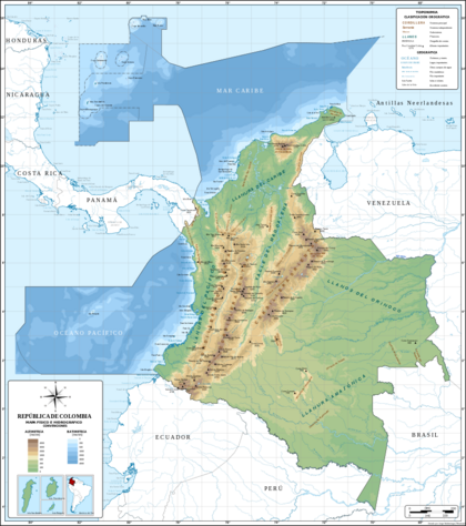 Mapa de Colombia (relieve) svg