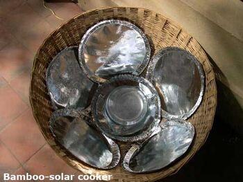 Bamboo solar cooker
