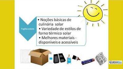 Culinária solar, sua história e aplicação