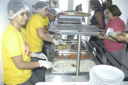 CEES Solar lunch being served