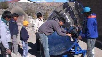 Cocina y horno solar en Escuela Albergue de Salta