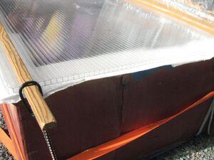 Transparent plastic fluteboard glazing Seattle 2009