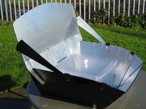 Panel-Box Cooker, high sun, 11-26-12