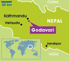 Godavari, Nepal map, 9-21-15