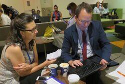 Julie Greene and Alan Bigalow at UN July 2017