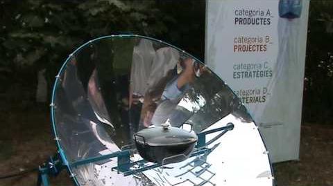 Cocina solar alSol 1.4 en expo Premio Diseño para Reciclaje