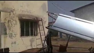 Solar Inclined trough line concentrator first trial Ajay Chandak
