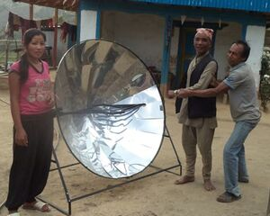 Sun and Ice - 500 solar cooker Nepal