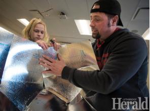 Lethbridge, Alberta, Canada students make solar cookers, 2-17-16