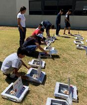 Rotary Club of Fresno pizza box cookers