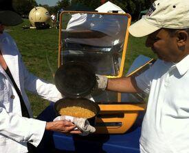 TIDES solar cooking exhibit 10-11, 2