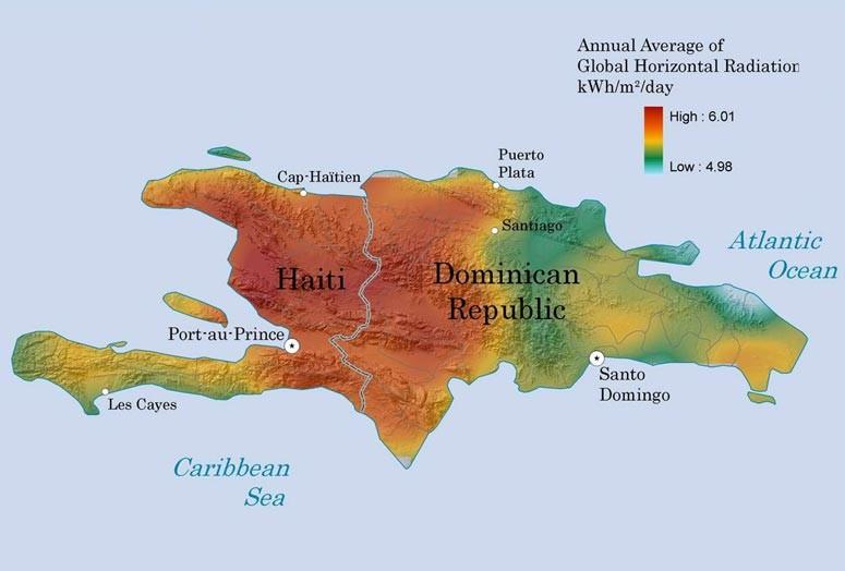Image Haiti solar radiation mapjpg Solar Cooking FANDOM