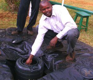 Peter Mwathi solar water heater, 2-17-12