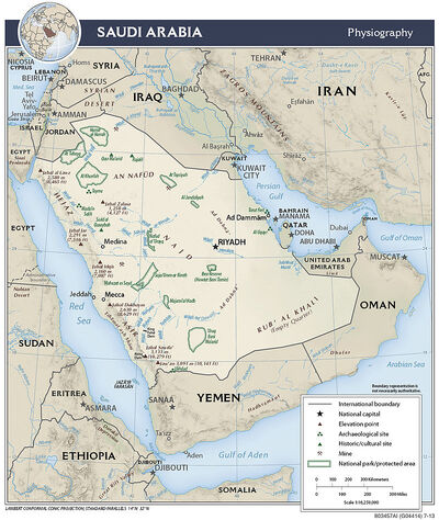 Arabia Saudi physical
