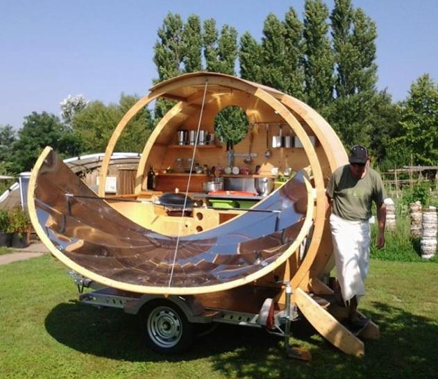 French solar food cart, 2-10-14