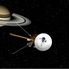 Cassini flyby to the Saturn's System
