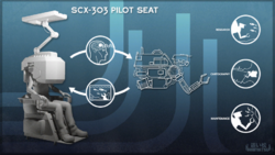 SCX-303 Pilot Seat poster