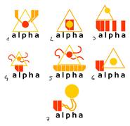 Alpha logo concepts