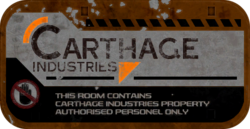 Carthage Industries - Restricted Area
