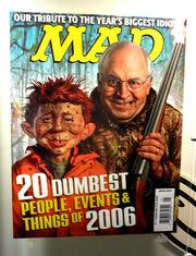 Mad Magazine corridor- Cheney cover, NYC, NY.JPG