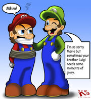 Luigi want glory too by kyosaeba-d4nd99w