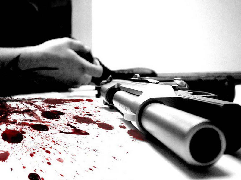 Image result for gun and blood