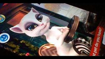 """What pets do you have?"" A talking Angela"