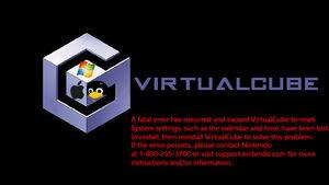 Virtualcube fatal error