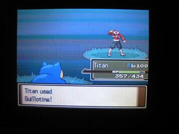 Titan used Guillotine 3