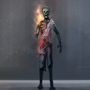 Zombie-on-fire