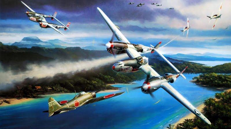 Lockheed-p38-lightning-vs-mitsubishi-a6m-zero-174603