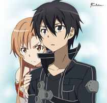 Kirito and asuna by famishou-d5e9g1q