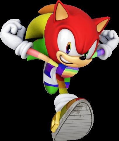 File:Rainbow Hedgehog Dude.png