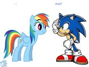 Sonic meets rainbow dash by mounstroso-d4861m9