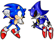 Sonic vs metal sonic by sonictopfan