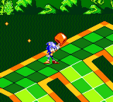 Sonic with a Chaos Emerald in Sonic Labyrinth