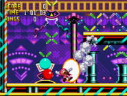 V. Maximum Overdrive Attack in Knuckles' Chaotix