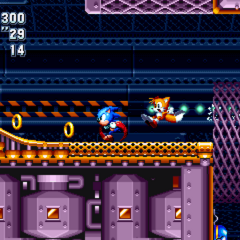 Sonic y Tails en Flying Battery.